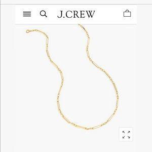 J. Crew 14k Gold Demi-fine long multilink Necklace